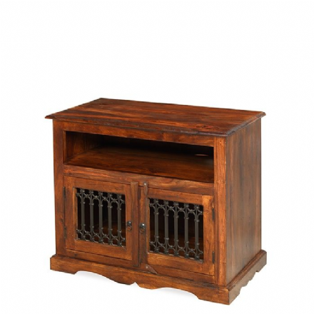 Jali Sheesham Wood Square TV Cabinet
